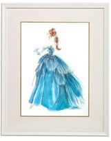 The Well Appointed House Barbie Couture Series Framed Girls Wall Art: Blue Evening Gown