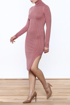 Hera Ribbed Turtleneck Dress