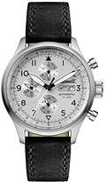 Ingersoll Men's The Bateman Quartz Watch with Silver Dial and Black Leather Strap I01901