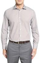 Luciano Barbera Men's Dot Print Sport Shirt