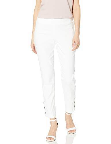 Nic+Zoe Women's Buttoned UP Cotton WONDERSTRETCH Pant