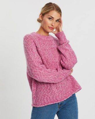 Atmos & Here Chanel Wool-Blend Brushed Knit
