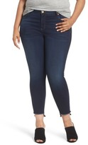 KUT from the Kloth Plus Size Women's Connie Step Hem Skinny Ankle Jeans