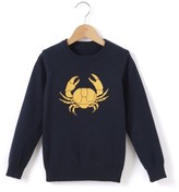 La Redoute Collections Crab Motif Jumper, 3-12 Years