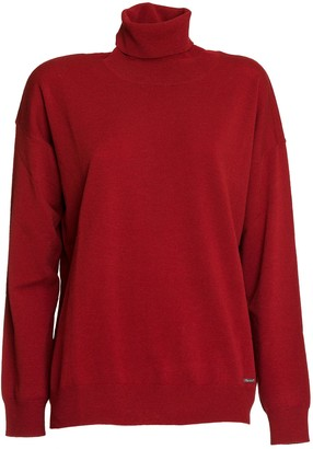 DSQUARED2 Wool Turtleneck Pullover In Red