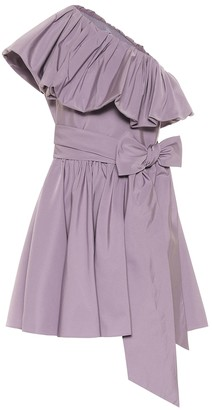 Valentino One-shoulder taffeta minidress