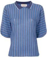 Chiara Bertani striped knitted polo shirt