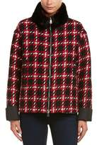 Moncler Giuturna Wool Overcoat.