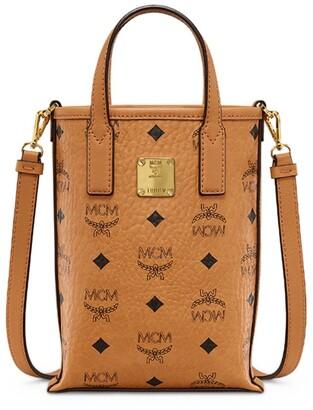 MCM Mini Essential Visetos Cross-Body Bag