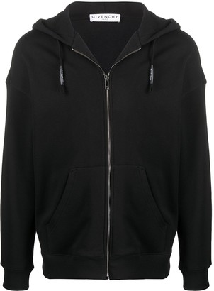Givenchy Peony-embroidered zipped hoodie