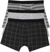 M&Co Stripe and check print trunks three pack
