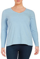 Lord & Taylor Plus Compact Long Sleeve Tee