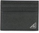 Prada logo pin cardholder