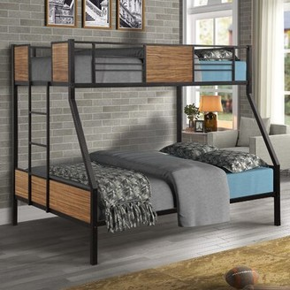Twin over Full Metal Standard Bunk Bed by Mason & Marbles Mason & Marbles Bed Frame Color: Brown