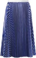 Sacai pleated striped skirt