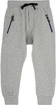 Munster Cotton-Blend Fleece Pants-GREY