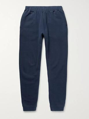 Sunspel Tapered Brushed Loopback Cotton-Jersey Sweatpants - Men - Blue