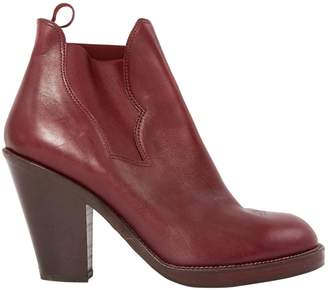 Acne Studios Burgundy Leather Boots