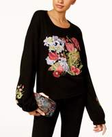 INC International Concepts Petite Embroidered Sweatshirt, Created for Macy's