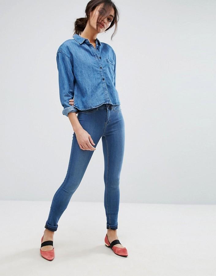 Vero Moda Mid Rise Skinny Jeans