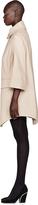 Carven Nude Beige A-Line Camel Coat