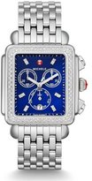 Michele Deco Diamond XL Bracelet Watch with Diamonds in Blue/Silver