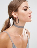 Asos Pentagon Ball Hoop Earrings
