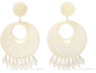 Faux Pearl Beaded Earrings - Off-white