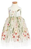 Halabaloo Girl's Embroidered Sleeveless Dress