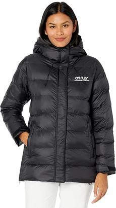 Oakley Winter Pine DWR Puffer Jacket (Blackout) Women's Coat