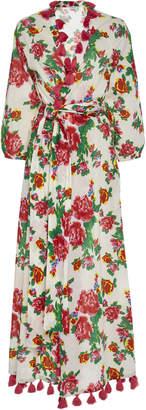 Rhode Resort Lena Tasseled Floral-Print Cotton Kimono