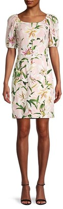 Dolce & Gabbana Floral Sheath Mini Dress