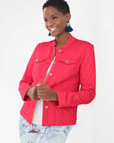 Chico's Sateen Solid Jacket