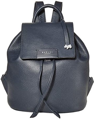 Radley London Ada Street - Small Flapover Backpack (Ink) Backpack Bags