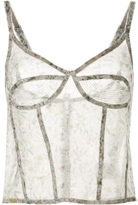 R 13 Silk Floral Print Camisole