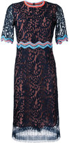 Peter Pilotto ric-rac trim lace dress - women - Viscose/Polyamide - 10