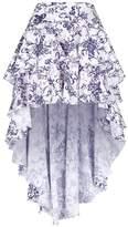 Caroline Constas Giulia Asymmetric Floral Skirt