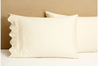 Belle Epoque Set of 2 Standard Scallop Pillowcases - Ivory