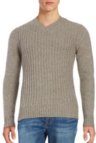 Black Brown 1826 Wool-Rich Cable Knit Sweater