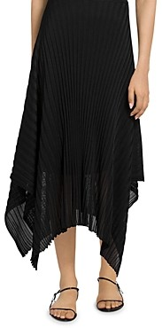 St. John Reverse Jersey Pleat Knit Skirt