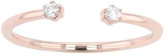 Lauren Conrad 10k Rose Gold White Sapphire Accent Ring