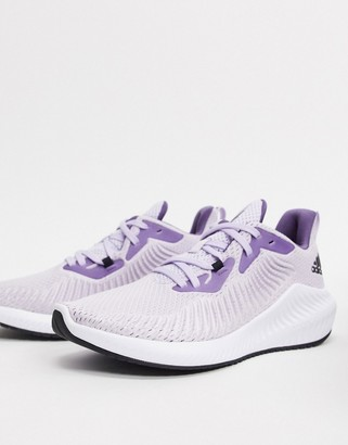 adidas alphabounce 3 trainers in purple