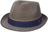 Ben Sherman Men's Multi-Stripe Straw Trilby