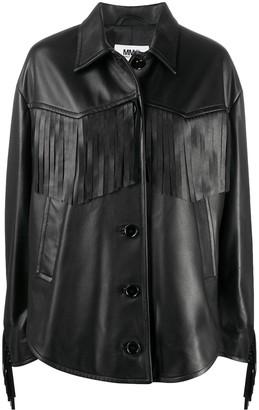 MM6 MAISON MARGIELA Oversize Fringed Leather Jacket