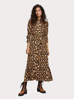 Scotch & Soda Belted Maxi Dress
