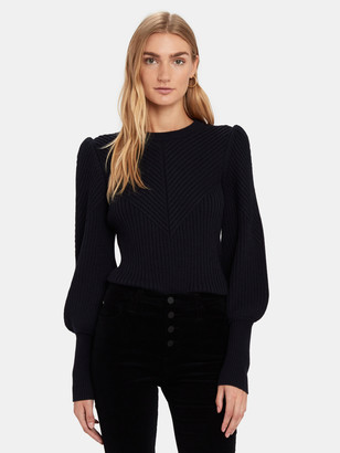 Joie Ronita Rib Blouson Sleeve Sweater