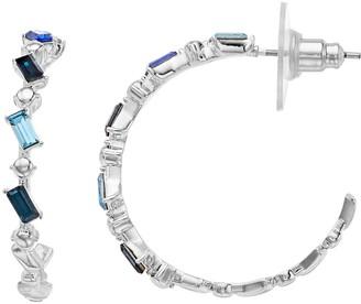 Brilliance+ Brilliance Baguette Cut Hoop Earrings with Swarovski Crystals