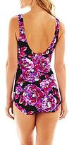 JCPenney Azul by Maxine of Hollywood Shirred-Front 1-Piece Swimsuit