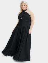Two Birds Black Convertible Ballgown Dress