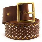 "Calleen Cordero Nolita"" Light Brown Leather Studded Belt"